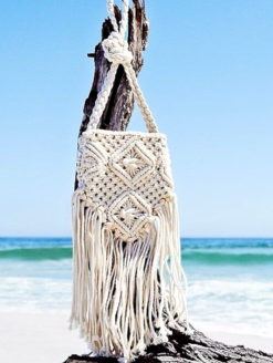 Bohemian Crochet Fringed Cross Body Bag - amanda mills l.a.