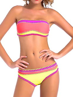 Brazilian Bandeau Crochet Bikini Set SUNNIE SUIT- v1