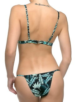 JUNGLE LEAF PRINT JANE BIKINI SET - V2