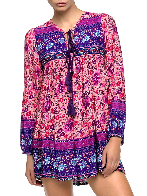 PRESIDIO PARK FLORAL PEASANT SHIRT DRESS - shop amla