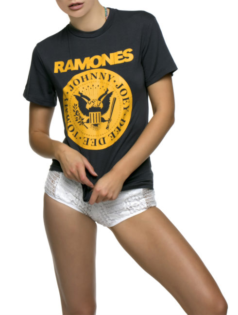 Ramones Vintage Slim Style Green Logo Tee