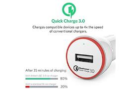 Anker PowerDrive124W car charger QC303ft micro White Off V3