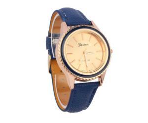 ساعة نسائية لون ازرق ماركة جينفا