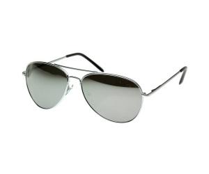 نظارات شمسية نسائية رجالية بإطار فضي وعدسات عاكسة