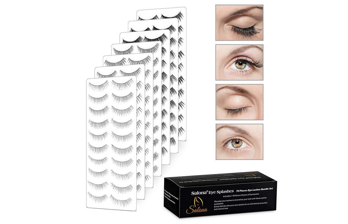Eye Splashes 70 Pairs False Eye Lashes  7 Styles