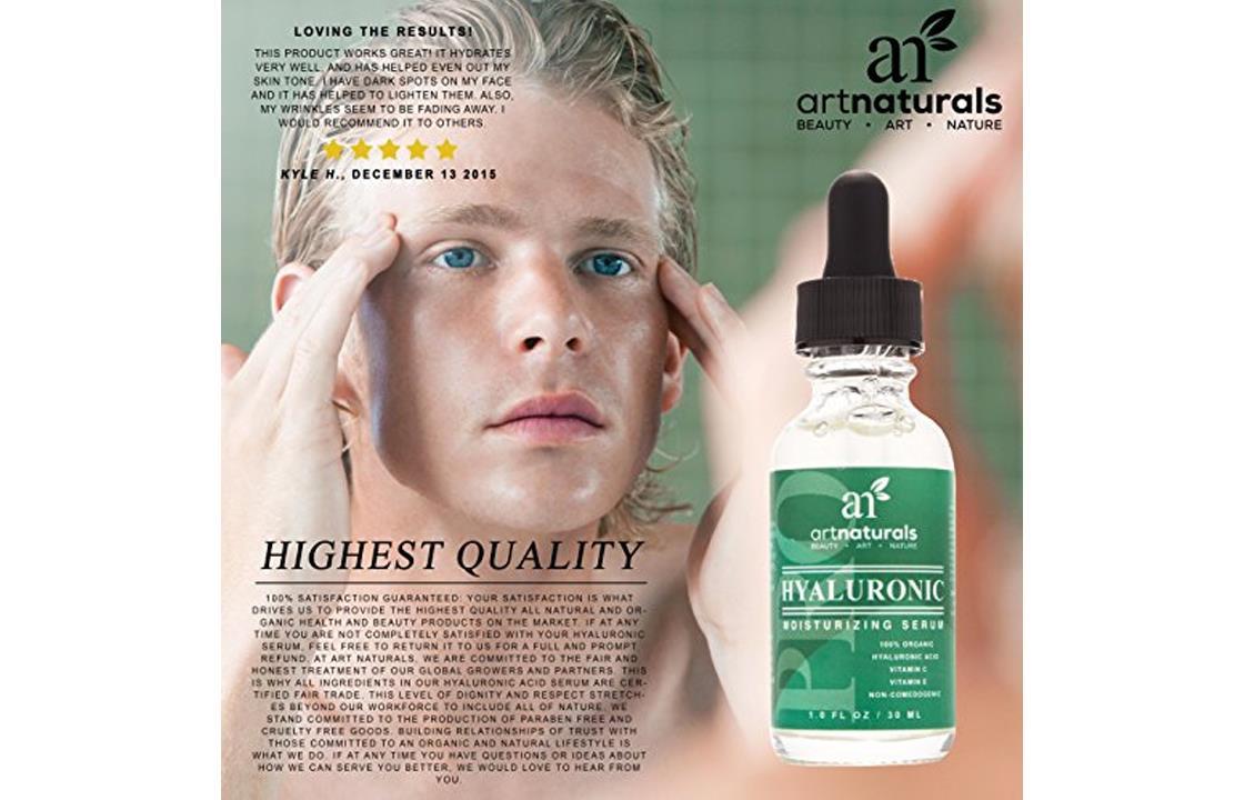 ArtNaturals Hyaluronic Acid Moisturizing Serum 100 Pure Vitamin C E