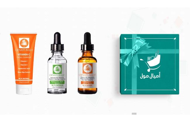 مجموعه فيتامين وسيروم وغسول الوجه من اوز