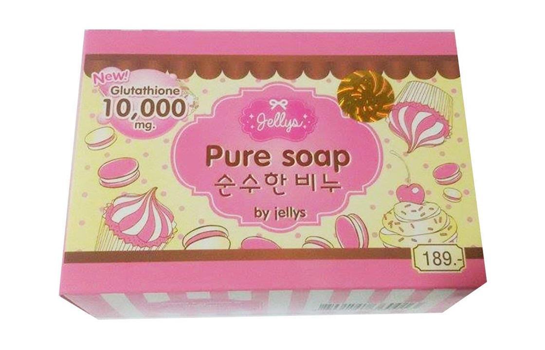 صابونة بيور من جيلييس لتبييض البشرة صحي آمن pure soap
