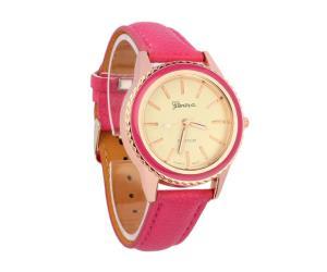 ساعة نسائية لون وردي ماركة جينفا