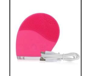 جهاز مساج وتنظيف الوجه مضاد للماء زهري