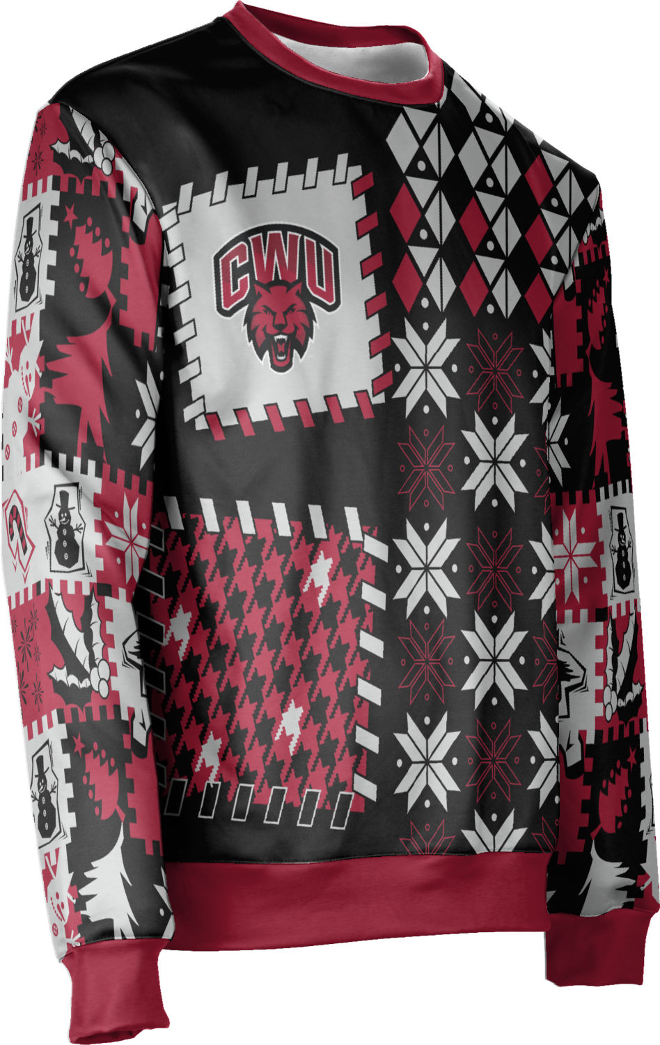 Unisex Central Washington University Ugly Holiday Tradition Sweater (Apparel)