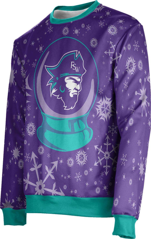 Unisex Florida SouthWestern State College Ugly Holiday Snow Globe Sweater (FSW)