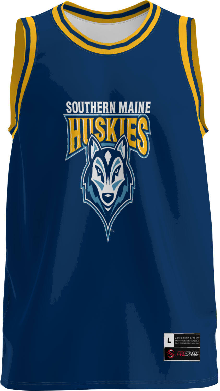 Men's University of Southern Maine Retro Replica Basketball Jersey (Apparel)