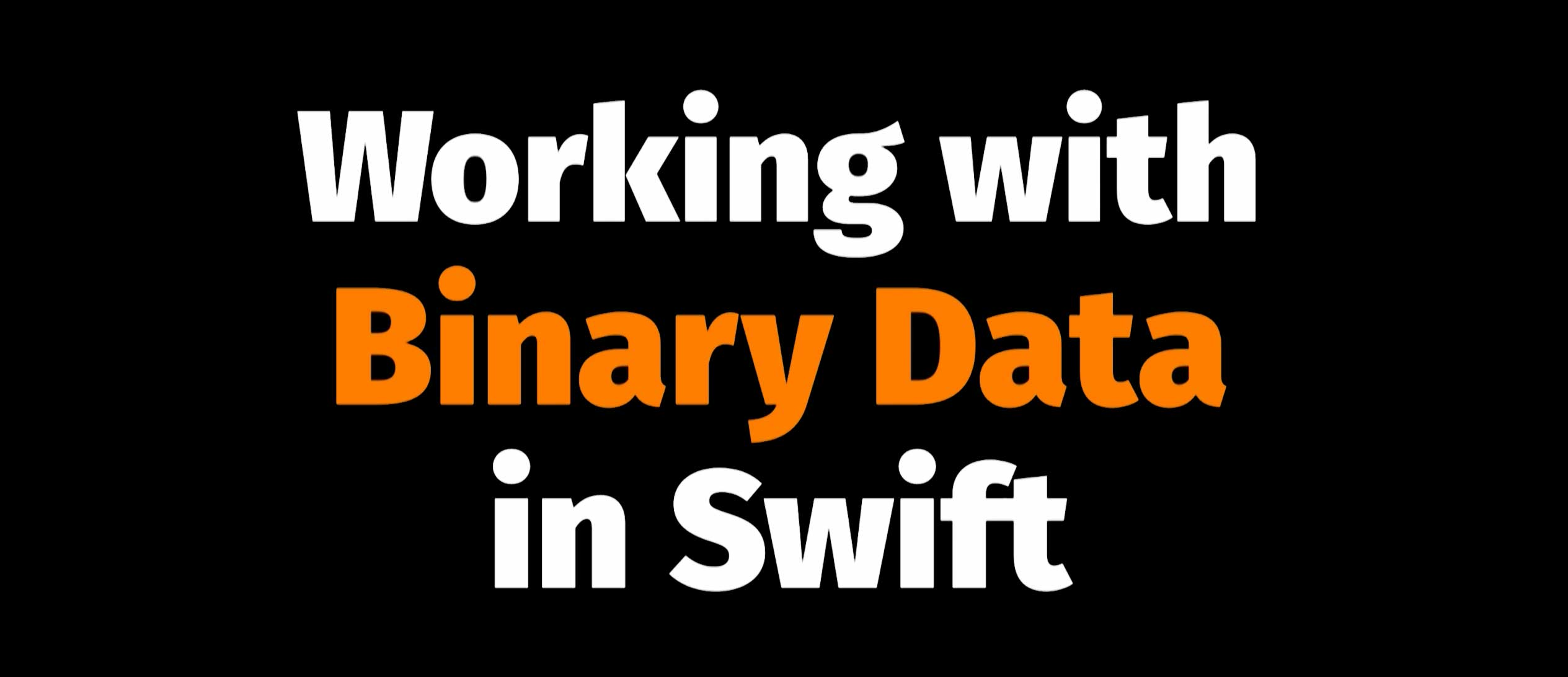 Working with Binary Data in Swift | Skilled io, the Swift Community