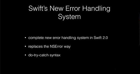Error Handling in Swift 2