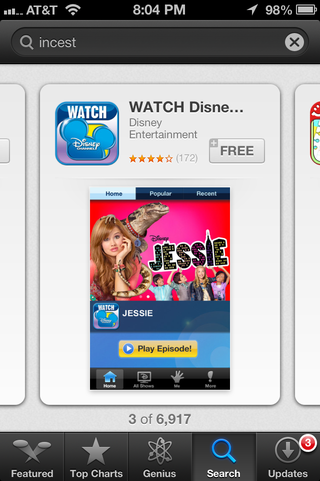 WATCH Disney Channel App #3 for search for incest