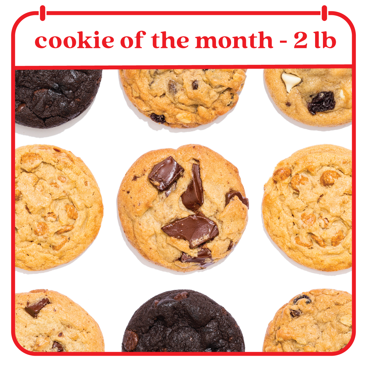 Cookie of the Month Club - Fresh Baked Cookies Tin - size: 2lb Signature Cookie Tin