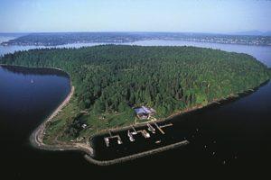 Blake Island Marine State Park Aerial Shot