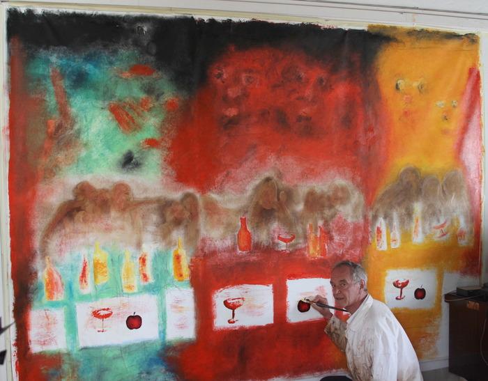 """ Bacchus Shadow II "" Trilogy 340 cm by 210 cm oil on canvas by CEKUTA"