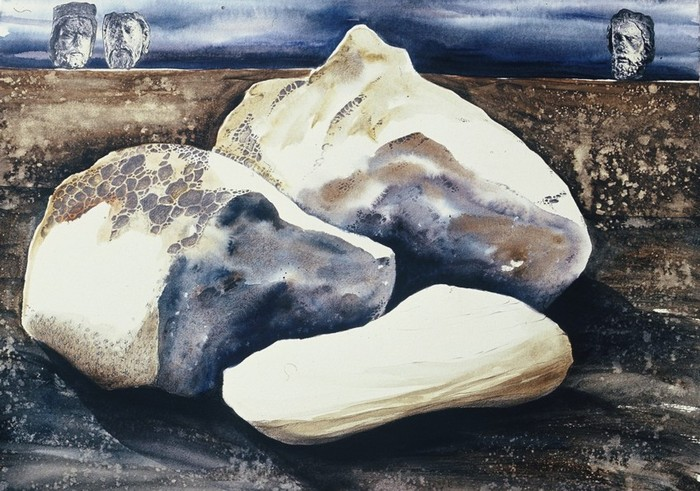 Three Rocks, mixed media by Pnina Granirer