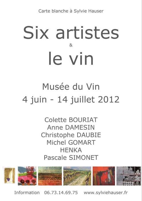Six artistes et le vin