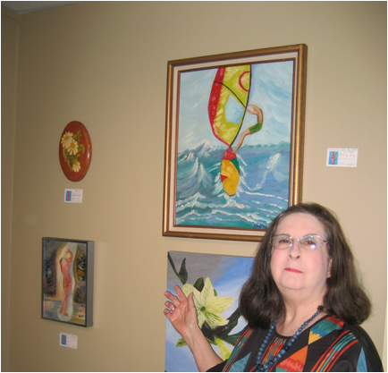 Mrs.Gawronski at her studio and gallery