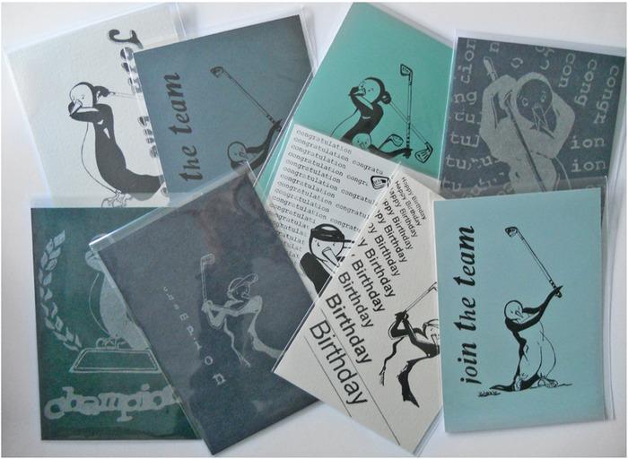 Golfing Penguin    postcards