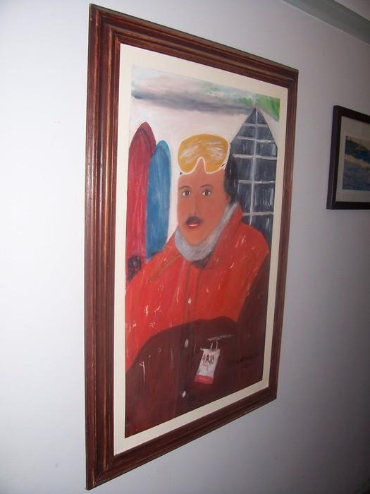 The skier (self portrait)