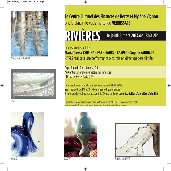 """Exposition """"RIVIERES"""" au Centre Culturel du Ministére de Finances -BERCY"""