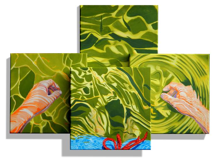 Bad mit Fischen / Swimming with fishes