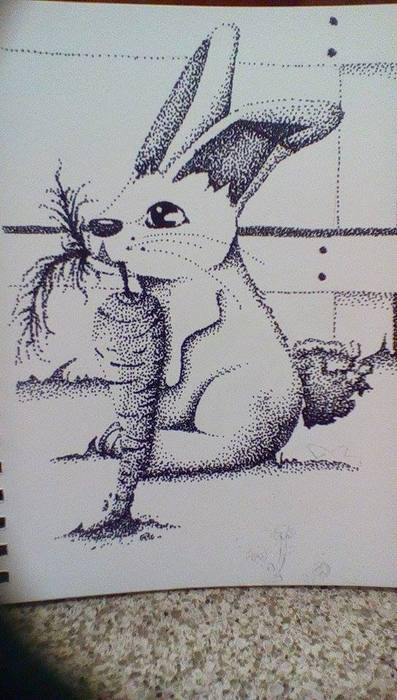 Stippled Hungry Rabbit