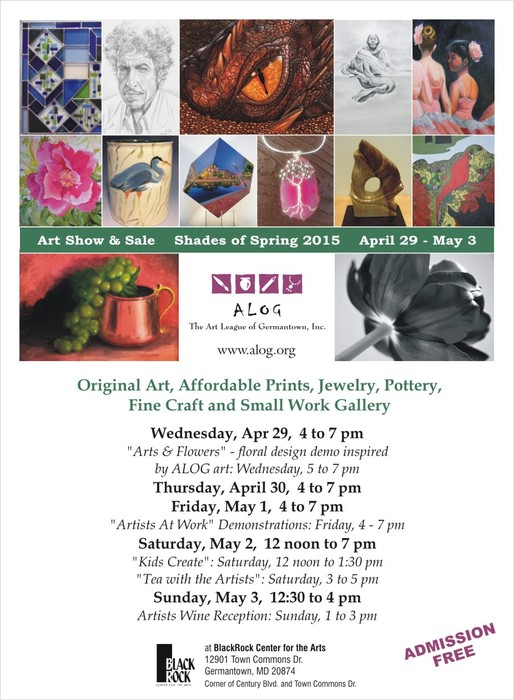 Natalya B. Parris's artworks are on display at Shades of Spring: Art League of Germantown art show and sale, April 29 - May 3, 2015 at BlackRock Center for the Arts; 12901 Town Commons Dr, Germantown, MD 20874