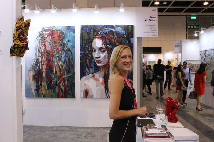 Two of my woman paintings shown at the fair