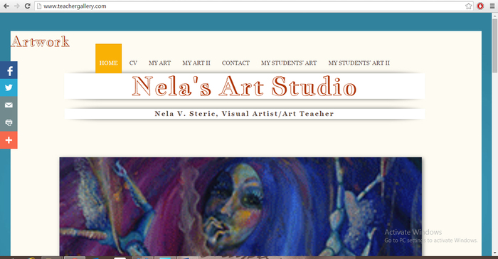 Nela's Art Studio - Teacher Gallery Web Site
