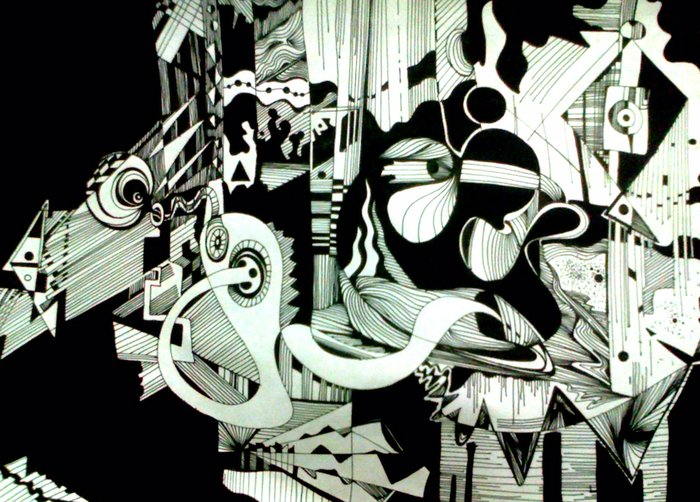 Name Music black pen and black color size a 4