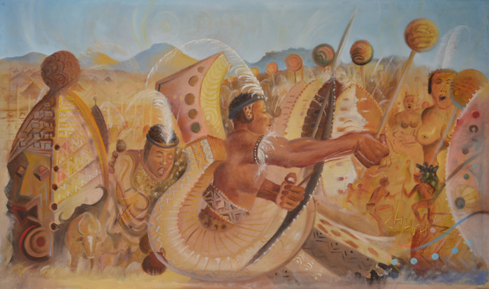 Kalekeni Kagiye ( Let him dance ) oil on canvas