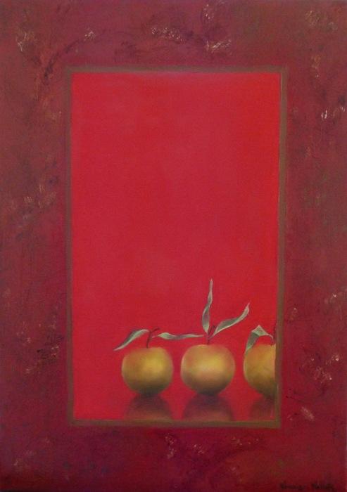 """""""Pommes en Suspens, Rouge"""""""
