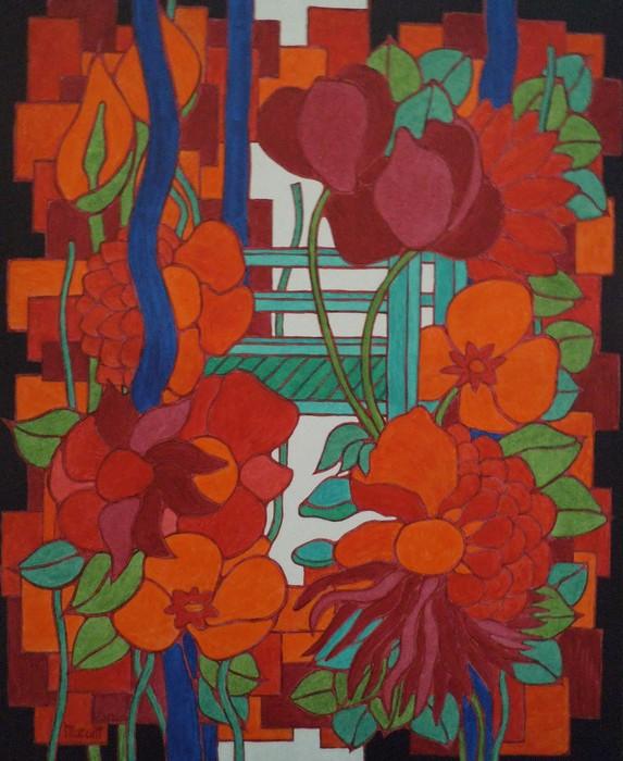 le pont aux fleurs