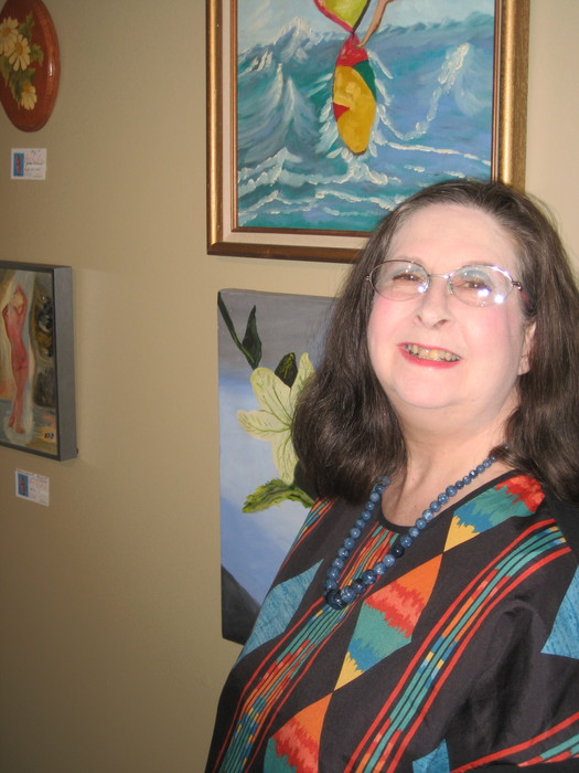 Elizabeth in her Studio
