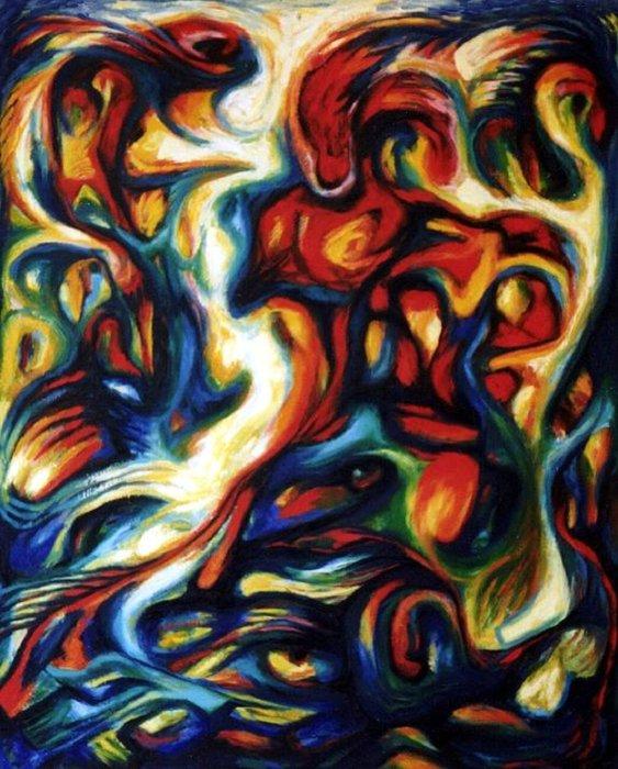 Brazilian dance oil nn canvas 80x65 cm