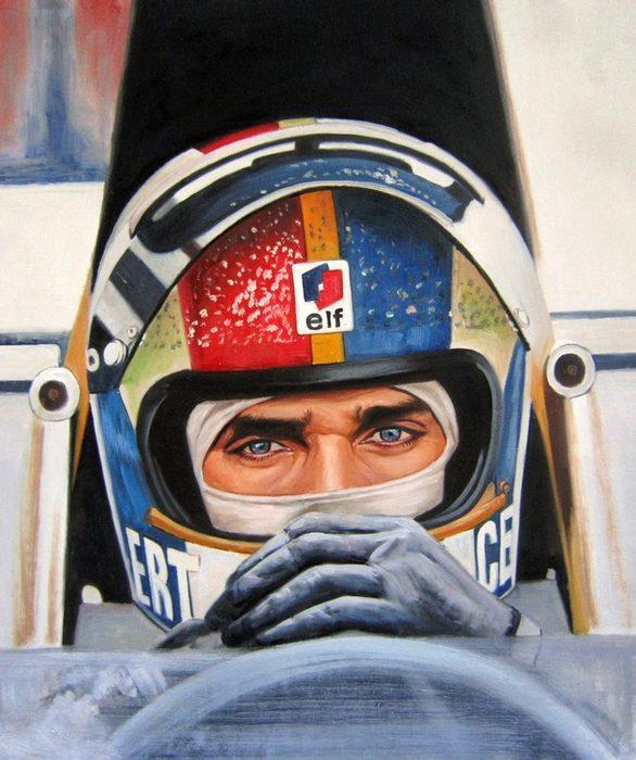 Racer in a portrait