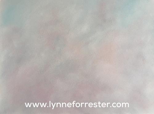 'Smoky Dusk' (cloudscape in soft pastels, 24x18cm)