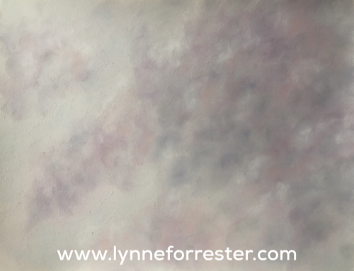 'Tentative Curls' (cloudscape in soft pastels)