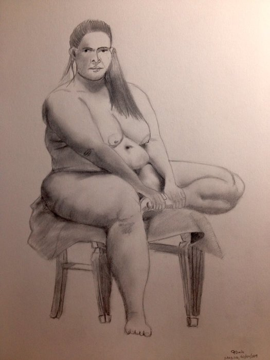 LIfe drawing with model 90 min
