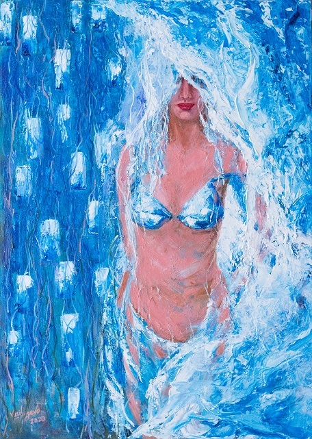 Aphrodite.Arisen from the waves