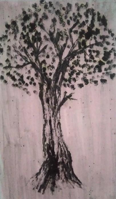Rain forest . Original art Lanjar jiwo