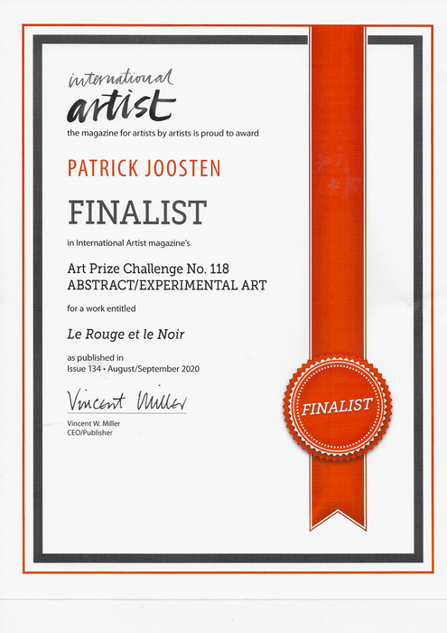 Finalist International Artist - Patrick Joosten