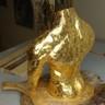 Argile et feuilles d'or