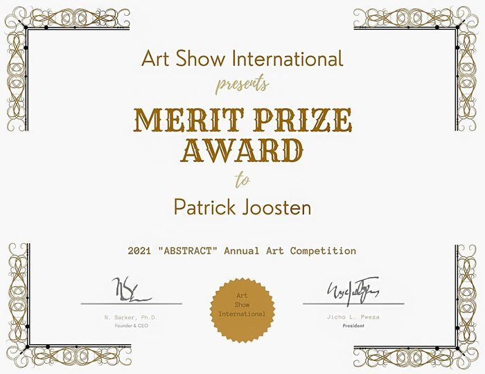 Merit Prize Patrick joosten