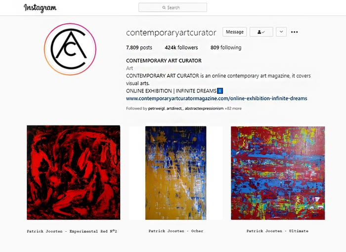 Online exhibition infinite dreams